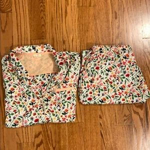 Women's Anthropologie long sleeve pajama set